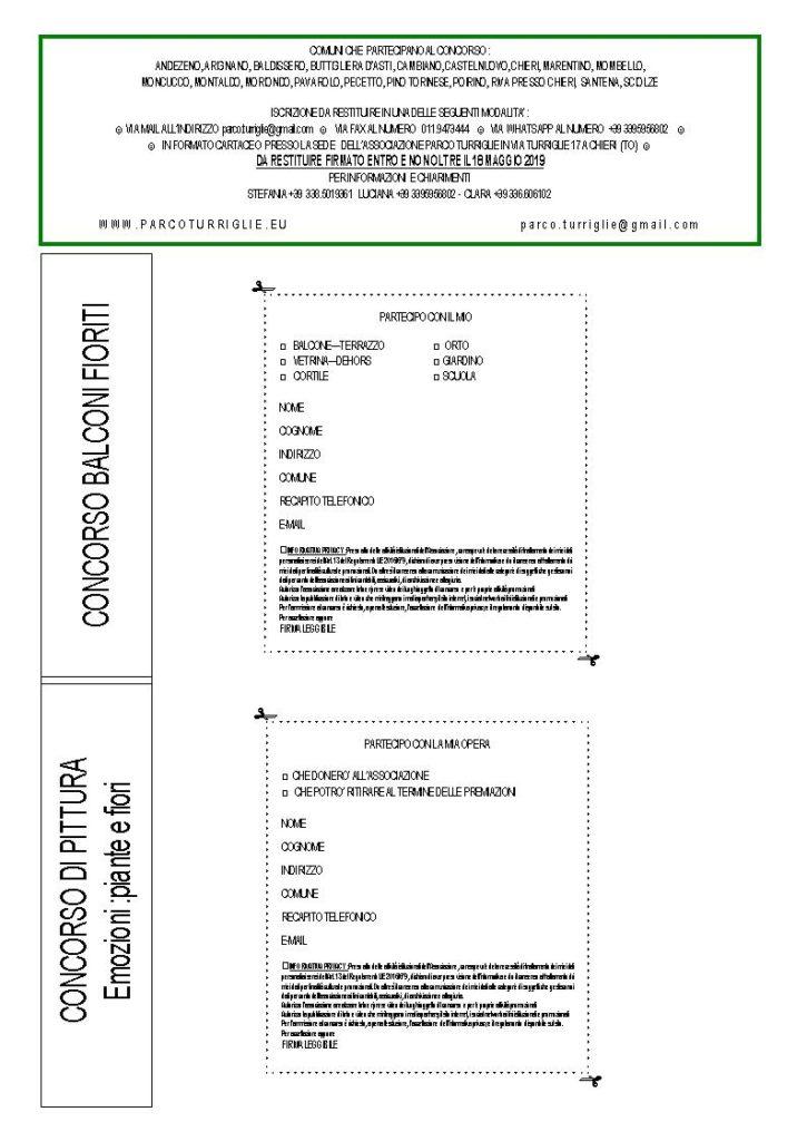 Talloncino di iscrizione: stampa, compila e trasmetti!